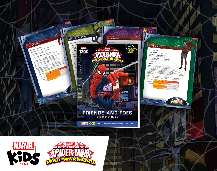 MarvelKids.com Releases FREE Ultimate Spider-Man Character Guide