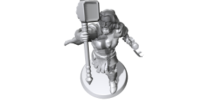 I made Thor, God of Thunder, at Hero Forge