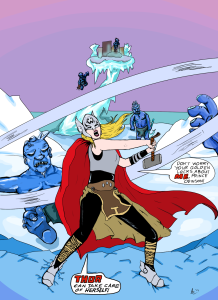 """Editor Amy's original art of Thor, based on """"What if Jane Foster Found the Hammer of Thor?"""""""