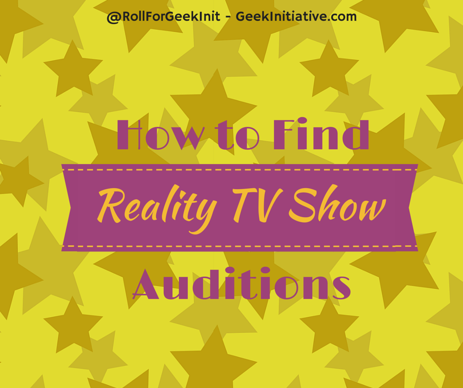 How To Find Reality TV Show Auditions