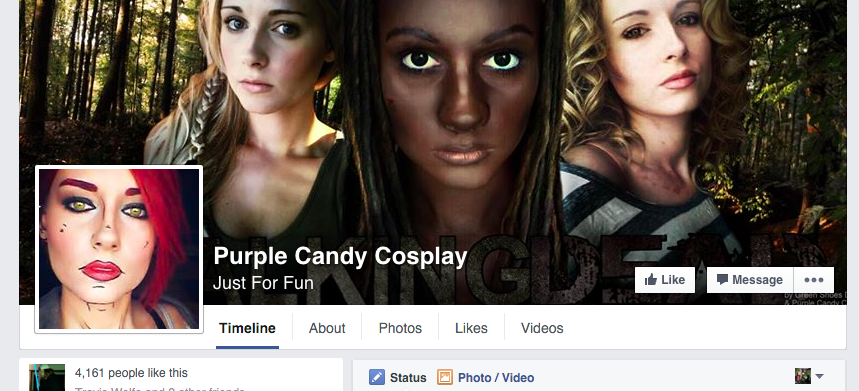 Purple Candy Cosplay's Facebook Page
