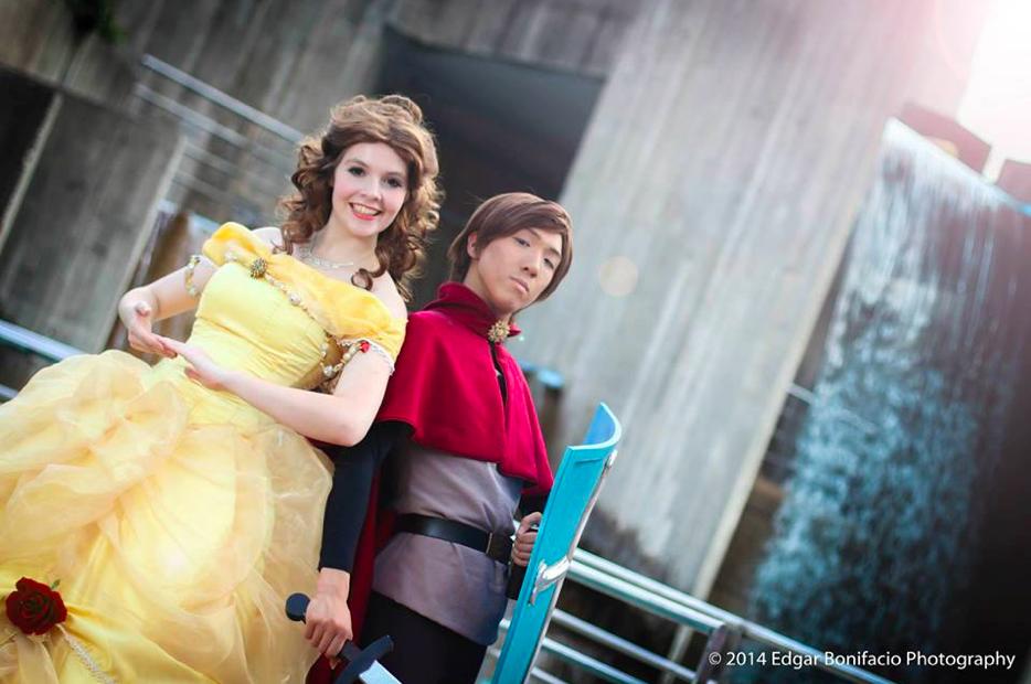 Erin as Belle and Allen Ryde as Prince Philip at Otakucon 2014 Photographer: Edgar Bonifacio Photography