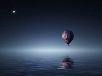 balloon over water