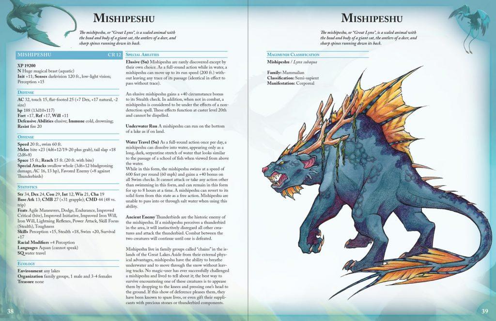 mishipeshu creature for 5e