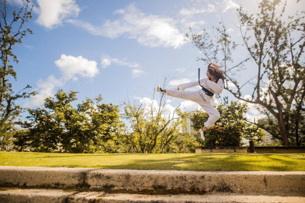 martial artist kick