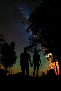 couple under stars