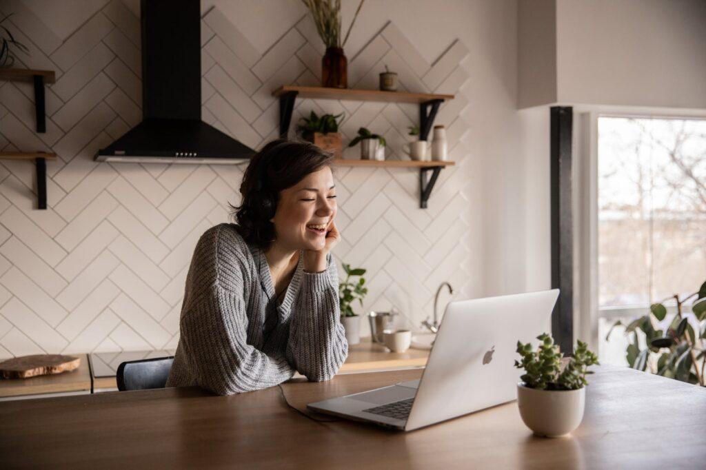 woman chatting on random video